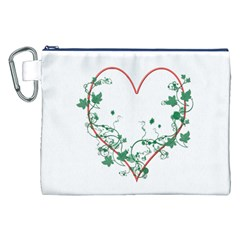 Heart Ranke Nature Romance Plant Canvas Cosmetic Bag (xxl) by Simbadda
