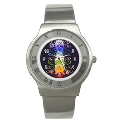 Chakra Spiritual Flower Energy Stainless Steel Watch by Simbadda