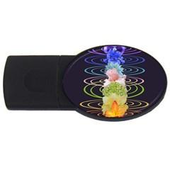 Chakra Spiritual Flower Energy Usb Flash Drive Oval (4 Gb) by Simbadda