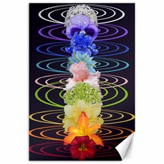 Chakra Spiritual Flower Energy Canvas 24  X 36  by Simbadda