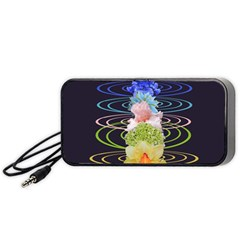Chakra Spiritual Flower Energy Portable Speaker (black) by Simbadda