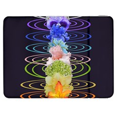 Chakra Spiritual Flower Energy Samsung Galaxy Tab 7  P1000 Flip Case by Simbadda