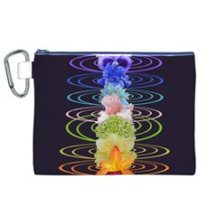 Chakra Spiritual Flower Energy Canvas Cosmetic Bag (xl) by Simbadda
