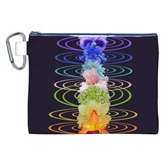 Chakra Spiritual Flower Energy Canvas Cosmetic Bag (xxl) by Simbadda