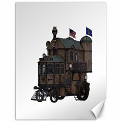 Steampunk Lock Fantasy Home Canvas 12  X 16   by Simbadda
