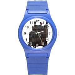 Steampunk Lock Fantasy Home Round Plastic Sport Watch (s) by Simbadda