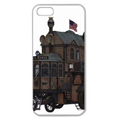 Steampunk Lock Fantasy Home Apple Seamless Iphone 5 Case (clear) by Simbadda