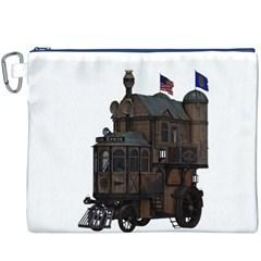 Steampunk Lock Fantasy Home Canvas Cosmetic Bag (xxxl) by Simbadda