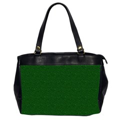 Texture Green Rush Easter Office Handbags (2 Sides)  by Simbadda