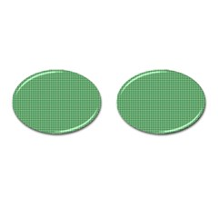 Green1 Cufflinks (oval) by PhotoNOLA