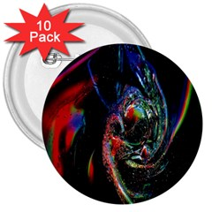 Abstraction Dive From Inside 3  Buttons (10 Pack)  by Simbadda