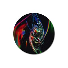 Abstraction Dive From Inside Magnet 3  (round) by Simbadda