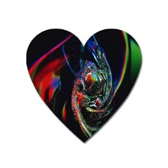 Abstraction Dive From Inside Heart Magnet by Simbadda