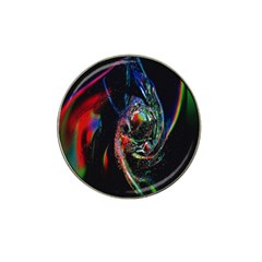 Abstraction Dive From Inside Hat Clip Ball Marker by Simbadda