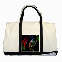 Abstraction Dive From Inside Two Tone Tote Bag by Simbadda
