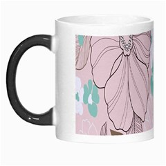 Background Texture Flowers Leaves Buds Morph Mugs by Simbadda