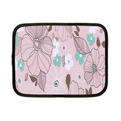 Background Texture Flowers Leaves Buds Netbook Case (small)  by Simbadda
