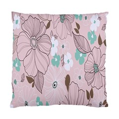 Background Texture Flowers Leaves Buds Standard Cushion Case (two Sides) by Simbadda