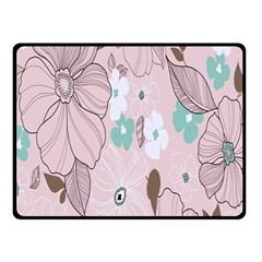 Background Texture Flowers Leaves Buds Fleece Blanket (small) by Simbadda