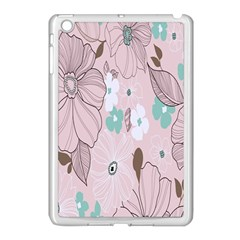Background Texture Flowers Leaves Buds Apple Ipad Mini Case (white) by Simbadda