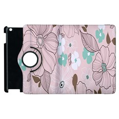Background Texture Flowers Leaves Buds Apple Ipad 2 Flip 360 Case by Simbadda
