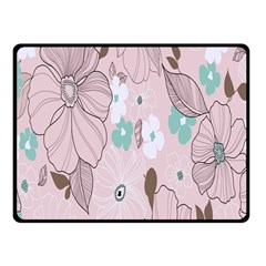 Background Texture Flowers Leaves Buds Double Sided Fleece Blanket (small)  by Simbadda