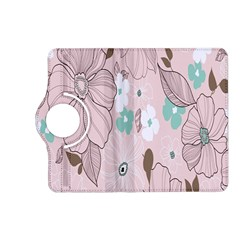 Background Texture Flowers Leaves Buds Kindle Fire Hd (2013) Flip 360 Case by Simbadda