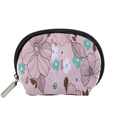 Background Texture Flowers Leaves Buds Accessory Pouches (small)  by Simbadda