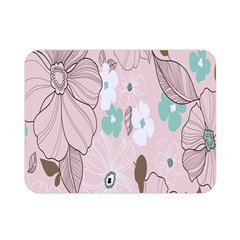 Background Texture Flowers Leaves Buds Double Sided Flano Blanket (mini)  by Simbadda