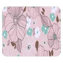 Background Texture Flowers Leaves Buds Double Sided Flano Blanket (small)  by Simbadda