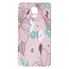 Background Texture Flowers Leaves Buds Galaxy Note 4 Back Case by Simbadda