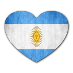 Argentina Texture Background Heart Mousepads by Simbadda