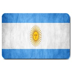 Argentina Texture Background Large Doormat  by Simbadda