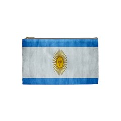 Argentina Texture Background Cosmetic Bag (small)  by Simbadda