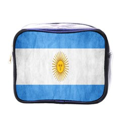 Argentina Texture Background Mini Toiletries Bags by Simbadda