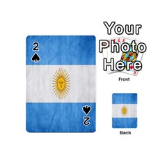 Argentina Texture Background Playing Cards 54 (mini)  by Simbadda
