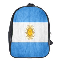 Argentina Texture Background School Bags (xl)  by Simbadda