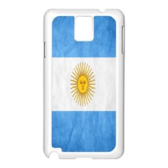 Argentina Texture Background Samsung Galaxy Note 3 N9005 Case (white) by Simbadda