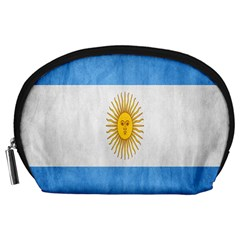 Argentina Texture Background Accessory Pouches (large)  by Simbadda