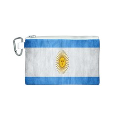 Argentina Texture Background Canvas Cosmetic Bag (s) by Simbadda