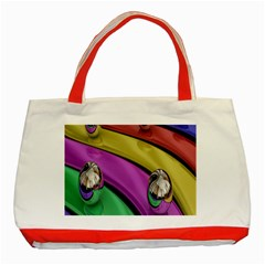 Balloons Colorful Rainbow Metal Classic Tote Bag (red) by Simbadda