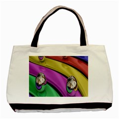 Balloons Colorful Rainbow Metal Basic Tote Bag (two Sides) by Simbadda