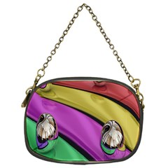 Balloons Colorful Rainbow Metal Chain Purses (one Side)  by Simbadda