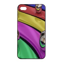 Balloons Colorful Rainbow Metal Apple Iphone 4/4s Seamless Case (black) by Simbadda