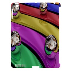 Balloons Colorful Rainbow Metal Apple Ipad 3/4 Hardshell Case (compatible With Smart Cover) by Simbadda