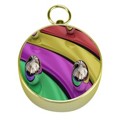 Balloons Colorful Rainbow Metal Gold Compasses by Simbadda