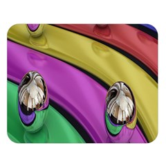 Balloons Colorful Rainbow Metal Double Sided Flano Blanket (large)  by Simbadda