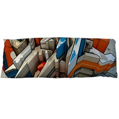 Abstraction Imagination City District Building Graffiti Body Pillow Case Dakimakura (two Sides) by Simbadda