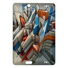 Abstraction Imagination City District Building Graffiti Amazon Kindle Fire Hd (2013) Hardshell Case by Simbadda