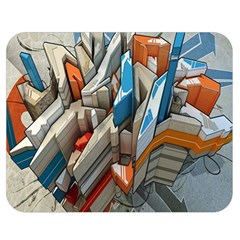 Abstraction Imagination City District Building Graffiti Double Sided Flano Blanket (medium)  by Simbadda